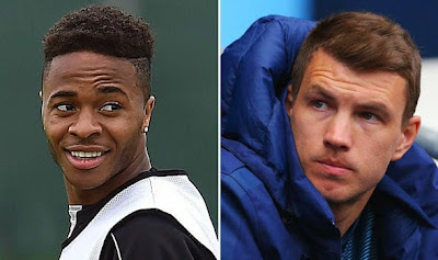 Edin Dzeko will reportedly be added to a deal for Raheem Sterling