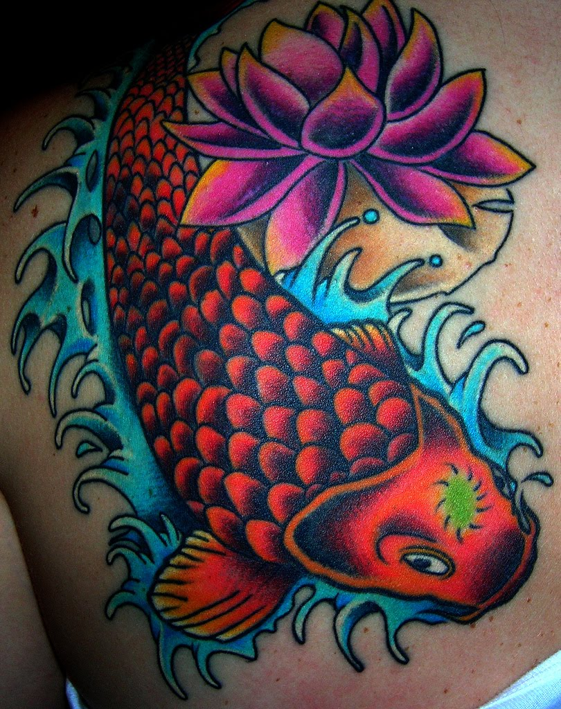 Amet liwat koi fish tattoo designs for girls for Small koi fish