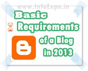 Basic requirements of a blogger blog in 2013