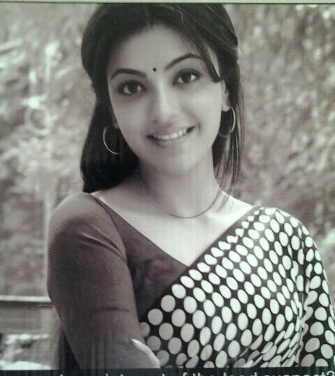 Kajal Agarwal Black And White PIcture