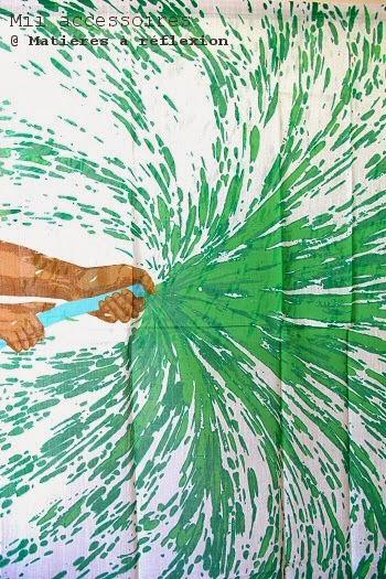 Foulard vert flash Mii accessoires