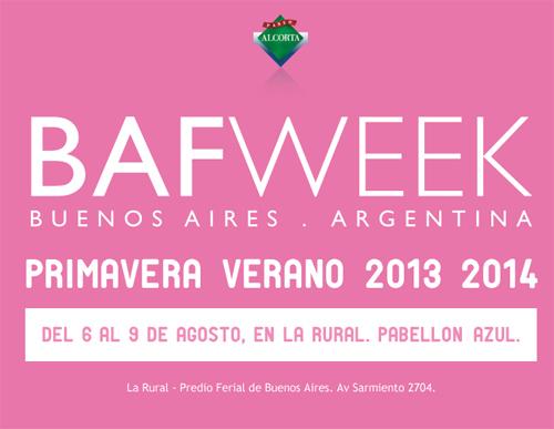 Bafweek primavera verano 2014