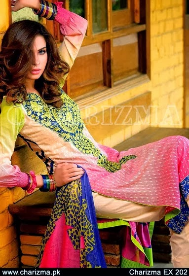 Embroidered Lawn Designs 2014