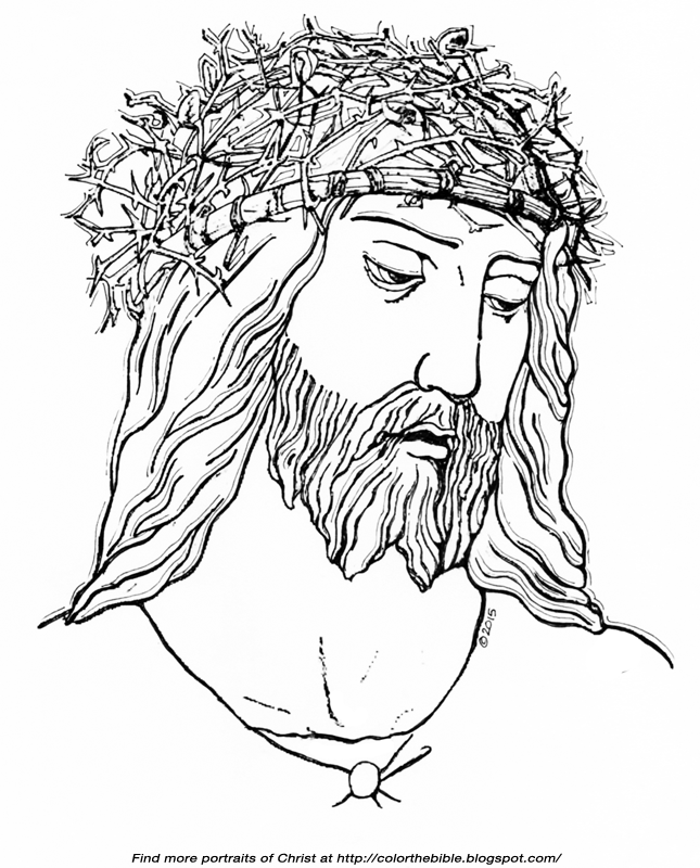 Crown Of Thorns Coloring Page Jesus Pages