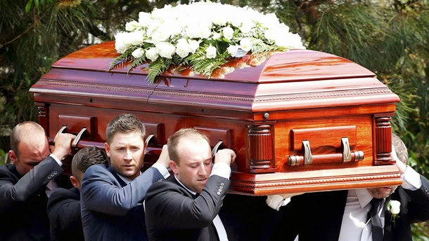 Phillip Hughes tearful farewell