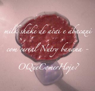 milk shake de açaí com sorvete de abacaxi