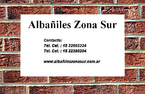 Albañiles en zona sur Berazategui, GBA sur y CABA.