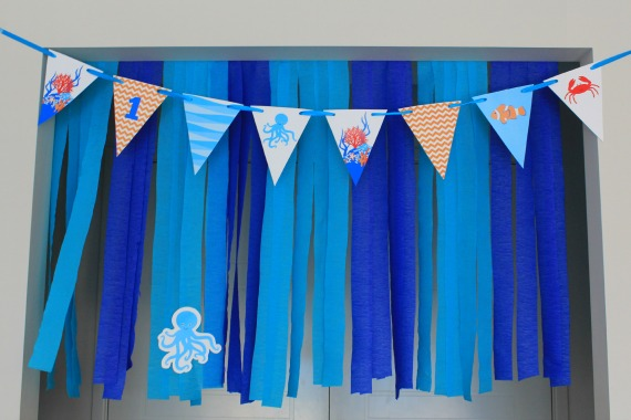Under the Sea Party Printable Bunting available at http://lovethatparty.bigcartel.com/products
