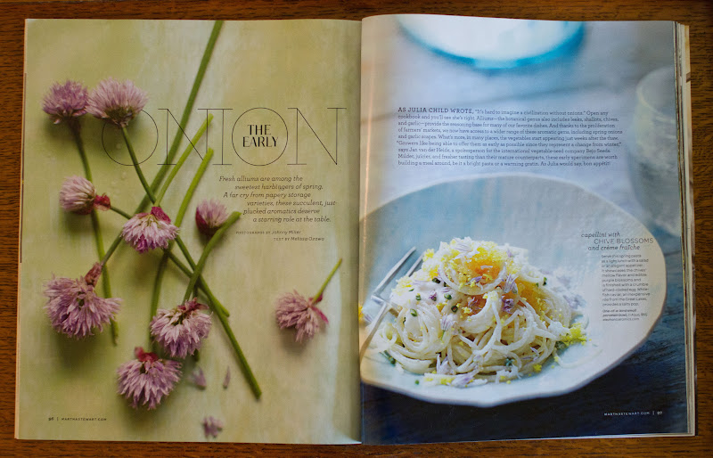 Bon Appétempt: Capellini with Chive Blossoms and Crème Fraîche