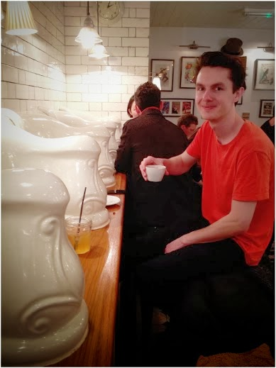 My coffee pal at Attendant Cafe London