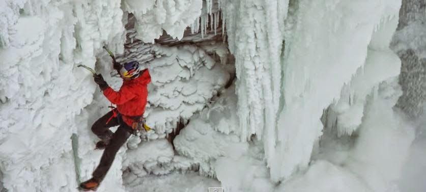 Making History! Elite Climber Defies Gravity As He Goes Up Niagara Falls?