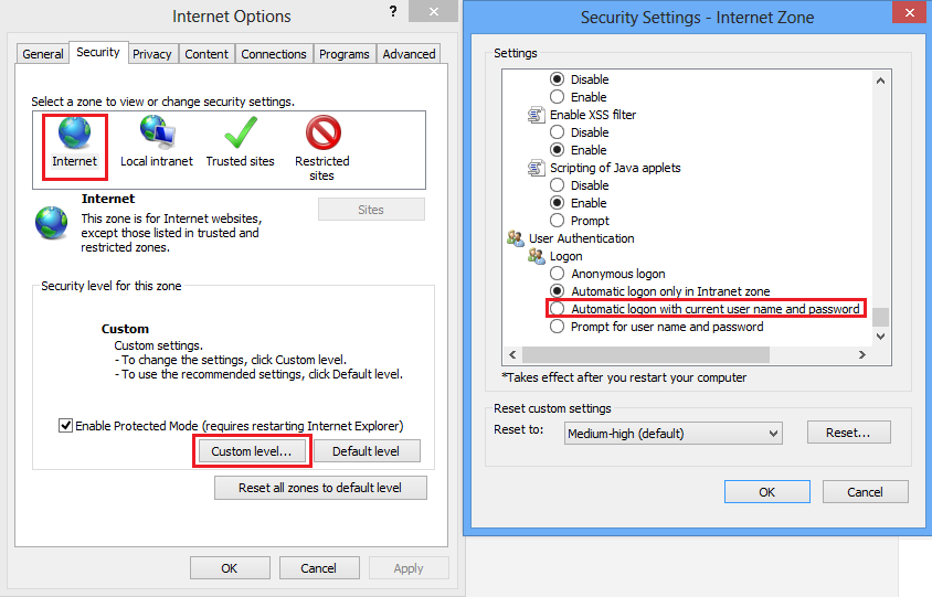 Clint Boessen's Blog: IE 10 Prompting for credentials - Windows