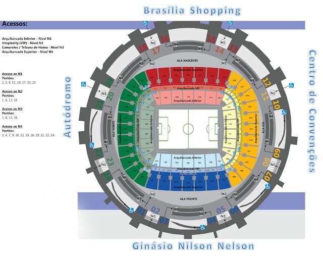 Saiba como entrar no Estádio Nacional de Brasília