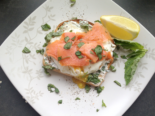 What Grace Cooked: Smoked Salmon and Eggs Toast