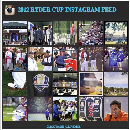 La Ryder Cup 2012 sur Instagram