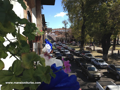 Decoration in Pátzcuaro for the celebrations of the Virgin of Health