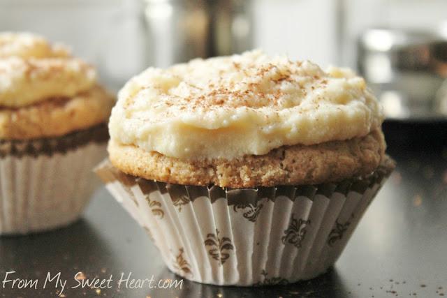 espresso cupcakes with mascarpone frosting