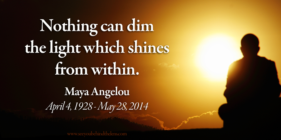 Maya Angelou, honored poet and essayist dies at 86. Our favorite quote: Nothing can dim the light which shines from within.