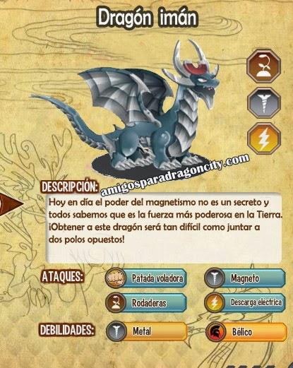imagen de las caracteristicas del dragon iman