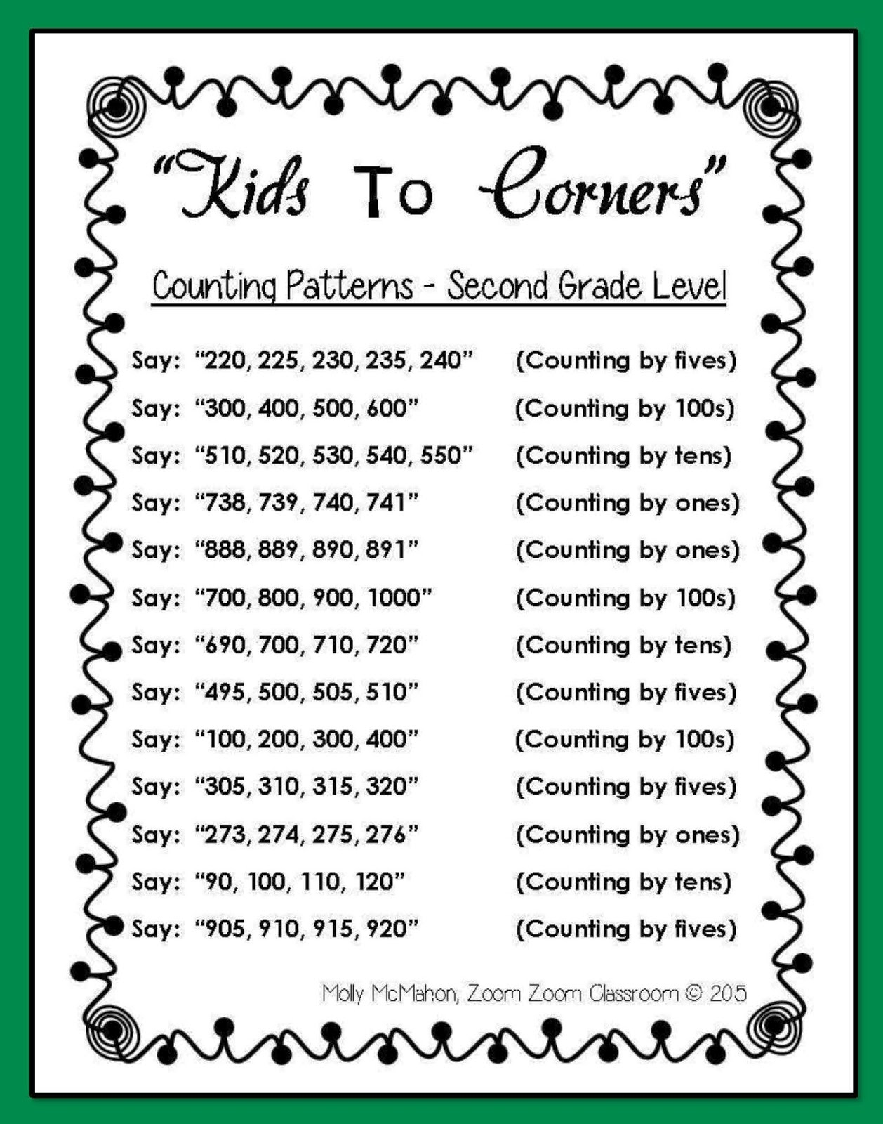Lessons by Molly: skip-counting-patterns