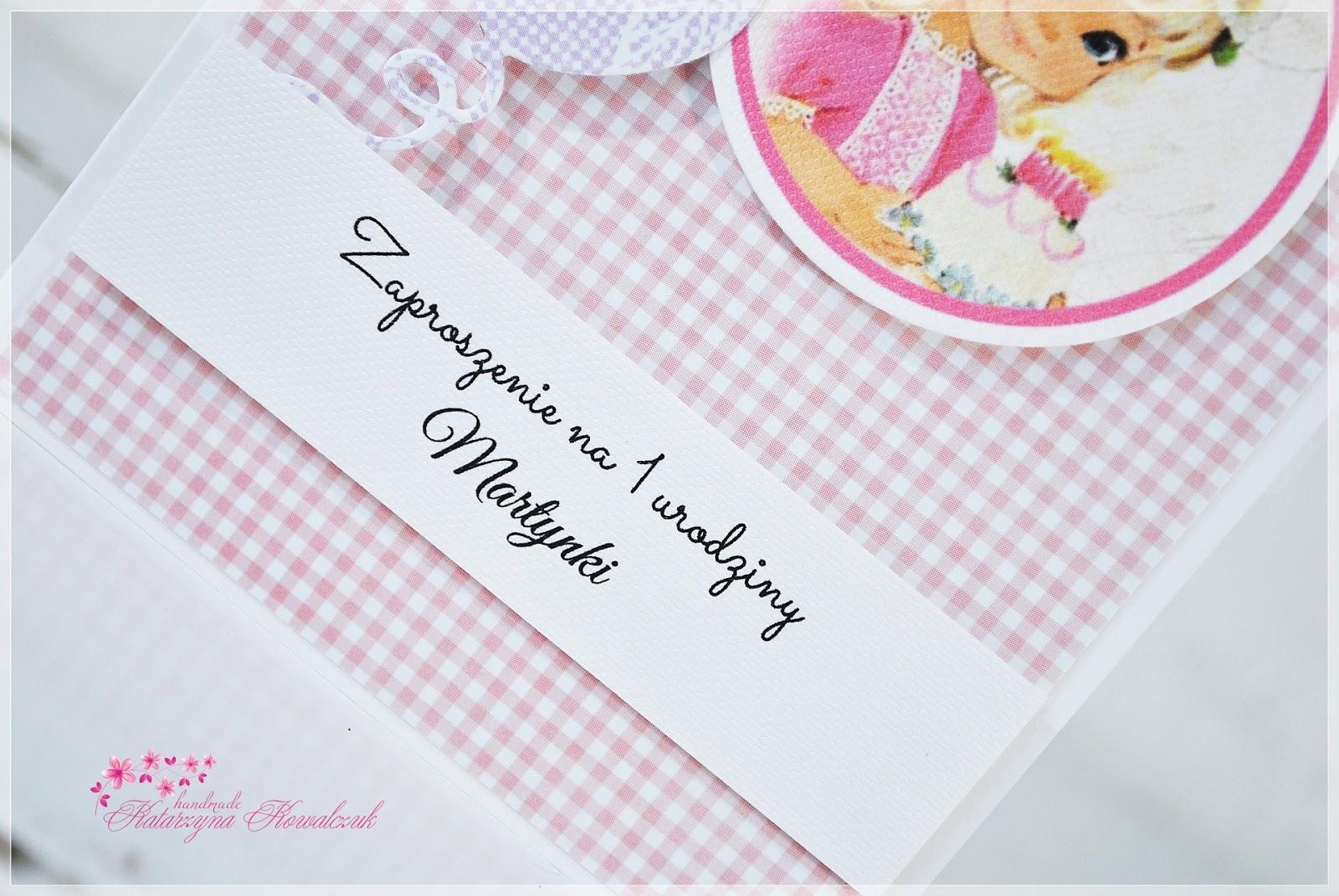 zaproszenie na pierwsze urodziny scrapbooking