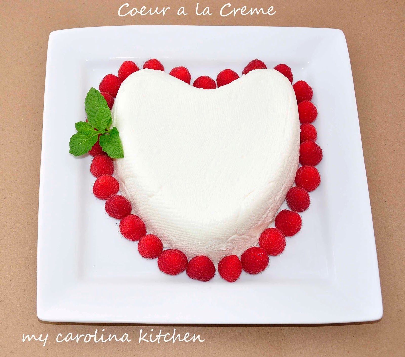 Heart Shaped French Coeur a la Crème with Raspberry & Grand Marnier ...