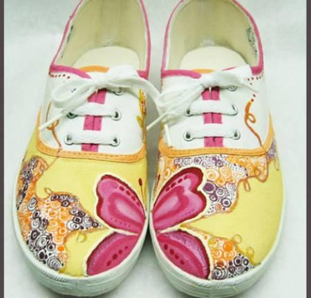 Life is fashion c mo pintar zapatillas de lona - Como pintar telas a mano ...