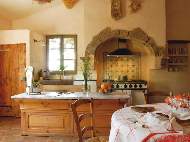 The enchanted home - Tuscan colors for kitchen ...