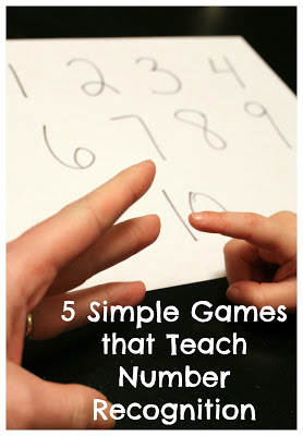 http://www.readingconfetti.com/2013/02/5-simple-games-for-teaching-number.html