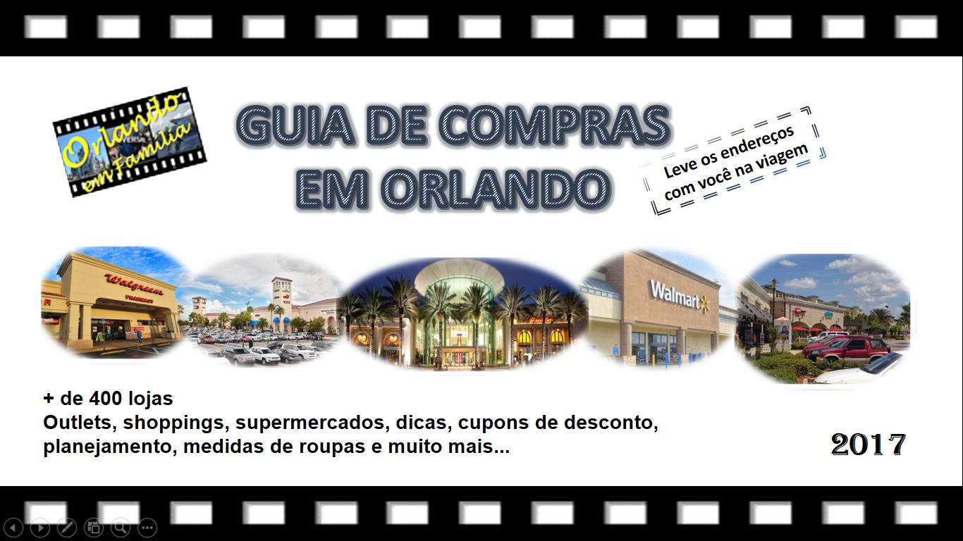 Compre aqui o seu Guia de Compras em Orlando por R$ 29,00, em até 2x no cartão