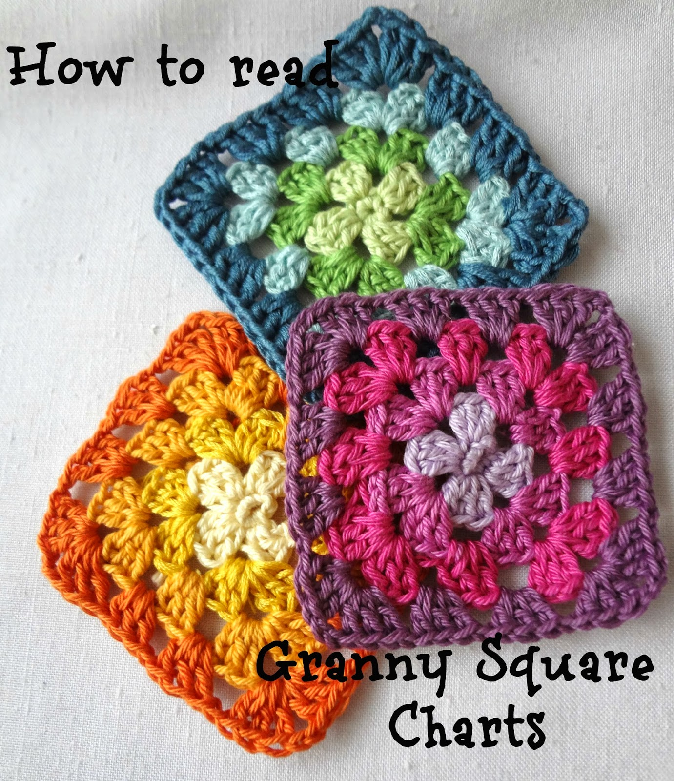 Little Treasures How To Read Granny Square Charts