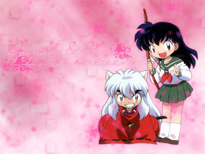 Chibi Inuyasha and Kagome Picture | Image | Wallpaper