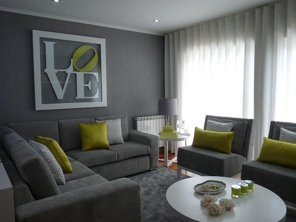 fotos de salas con sofs color gris decorar disear y embellecer