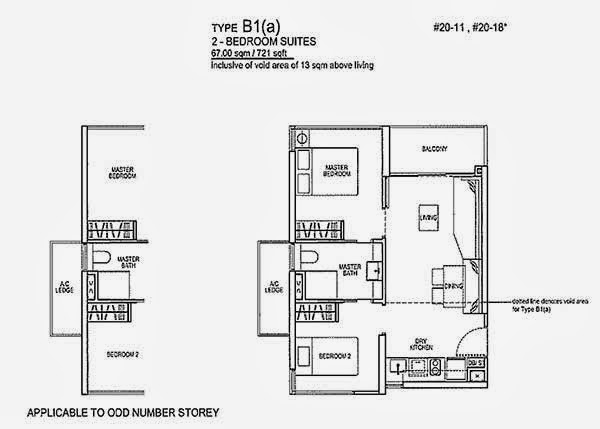 Rivertrees Residences 2 Bedrooms Floor Plan