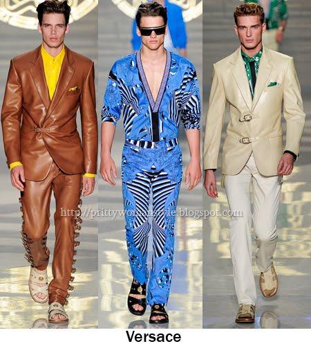 мъжки костюми от кожа Пролет/Лято 2012
