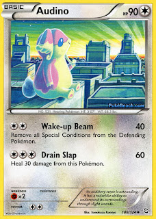 Audino Dragons Exalted Pokemon Card