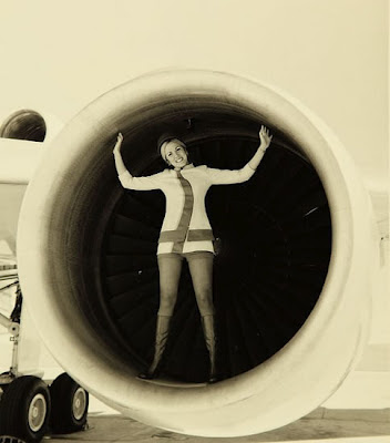 swedish stewardess in miniskirt