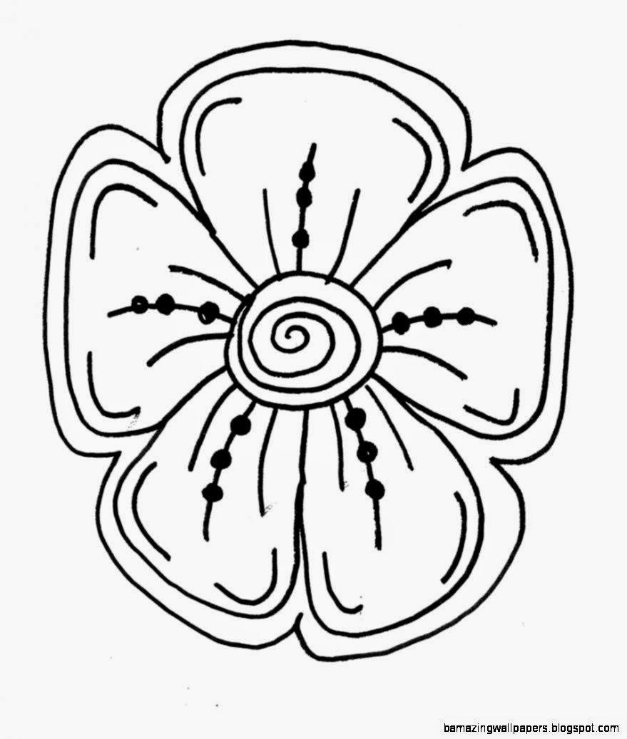 Easy Flower Drawings   ClipArt Best