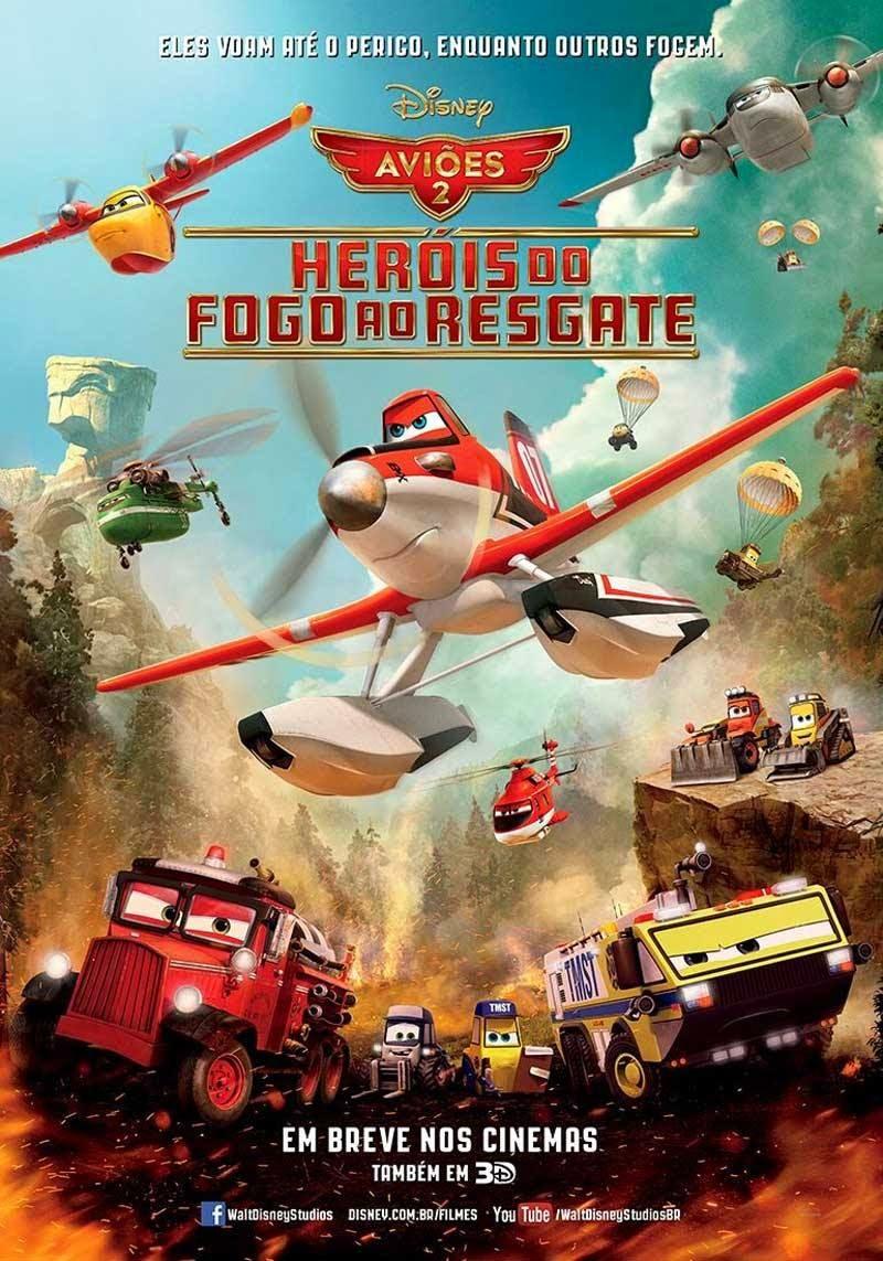 Pôster/capa/cartaz nacional de AVIÕES 2: HERÓIS DO FOGO AO RESGATE (Planes: Fire & Rescue)