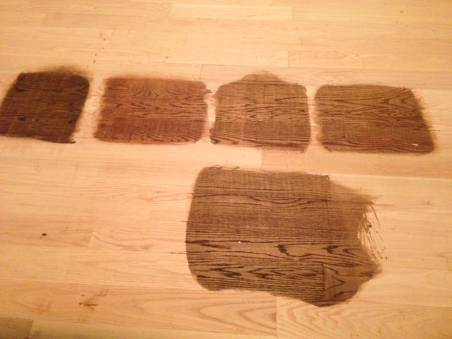 """Wood Floor Stain Color"" ""Antique Brown"" ""Chestnut"""