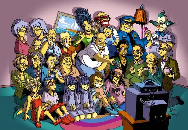 Os Simpsons Em Desenhos Alternativos
