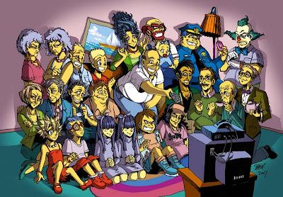 desenho mangá dos Simpsons