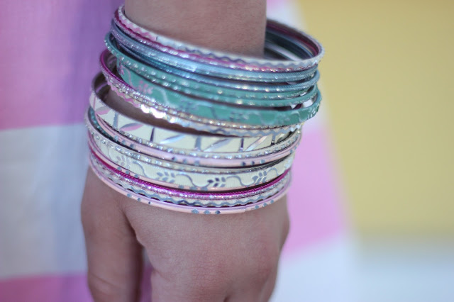 Mint and Pink Bangles