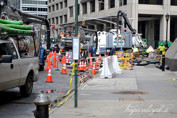 New York November 2012 Sandy Aufräumarbeiten