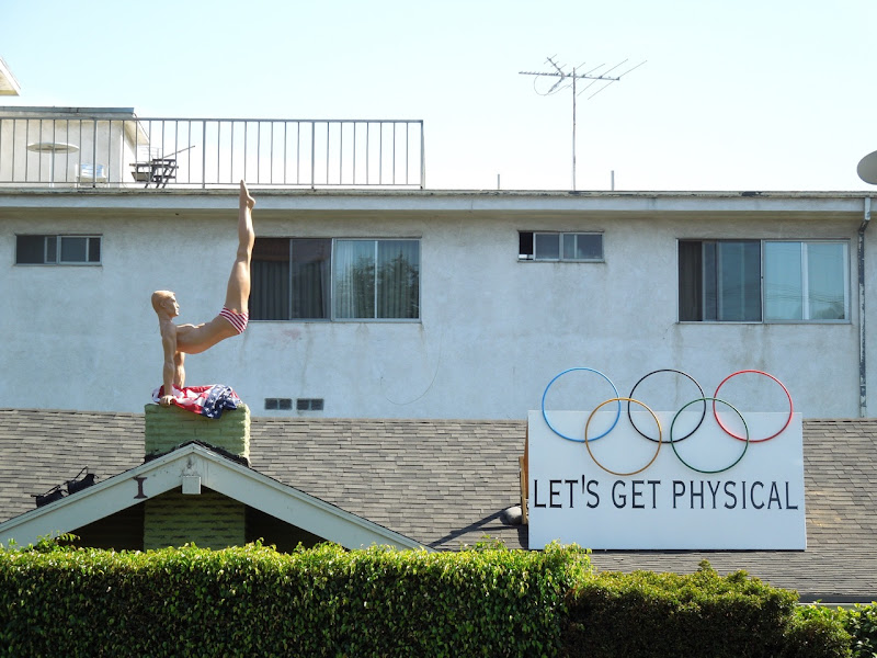 Get Physical Olympics rooftop display