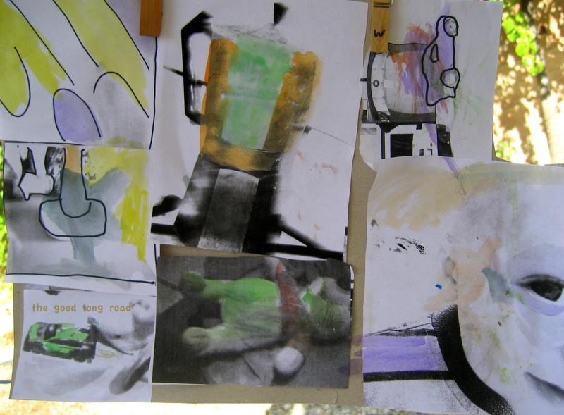 Kids Get Arty Rauschenberg Mixed Media Art