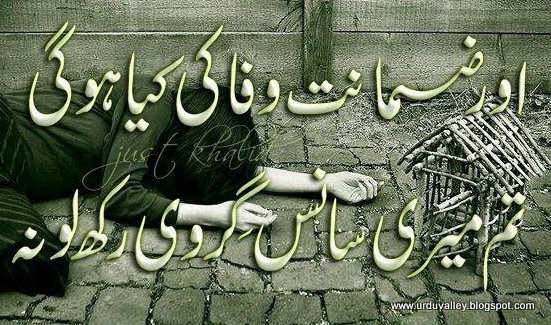 love poetry in urdu, urdu love poetry, urdu poetry, urdu sad poetry, Aur Zamanat Wafa Ki Kya Ho Gi,