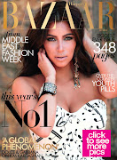 Kim Kardashian on Harper Bazaar Arabia Cover