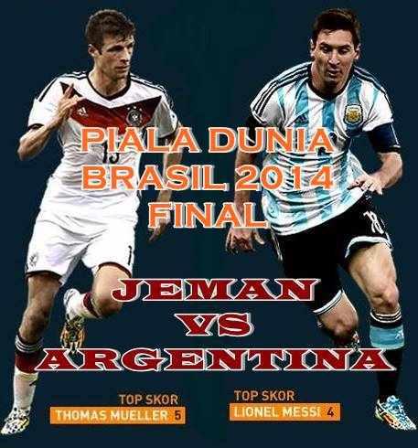 gambar laporan hasil final piala dunia 2014 Jerman vs. Argentina