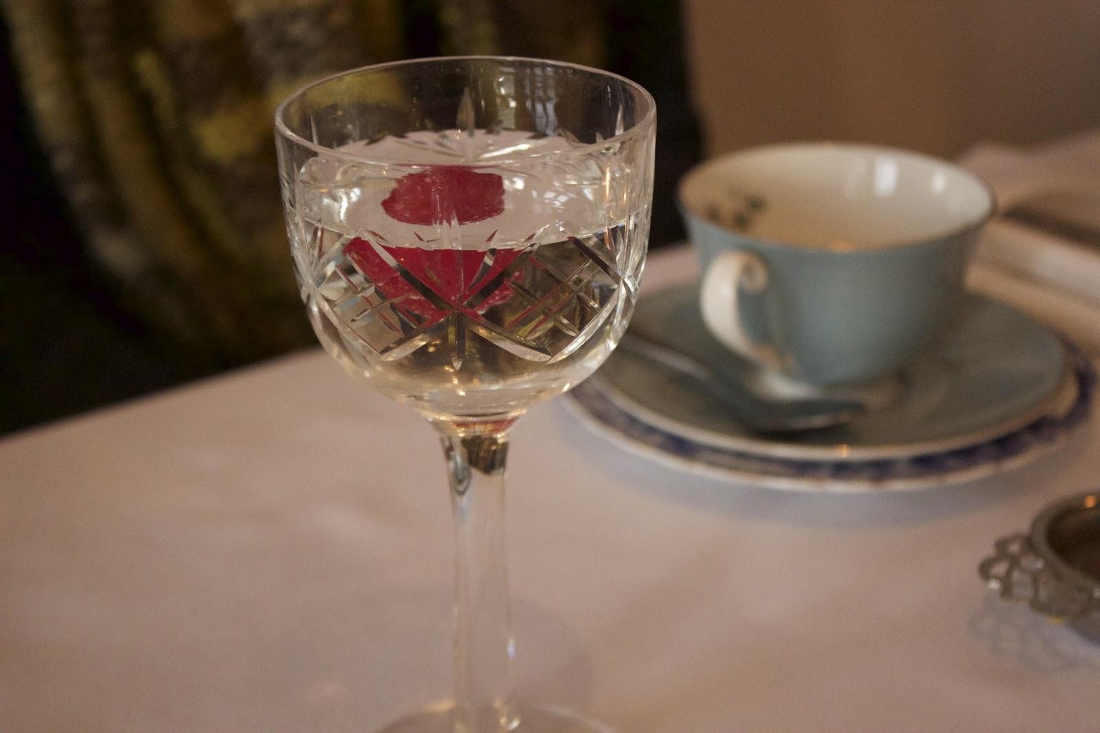 raspberry elderflower water
